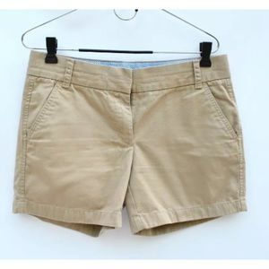 J crew 4.5 inch khaki tan chino shorts